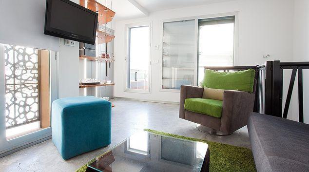 Living area at Belmonte Apartment, San Bernardo, Seville