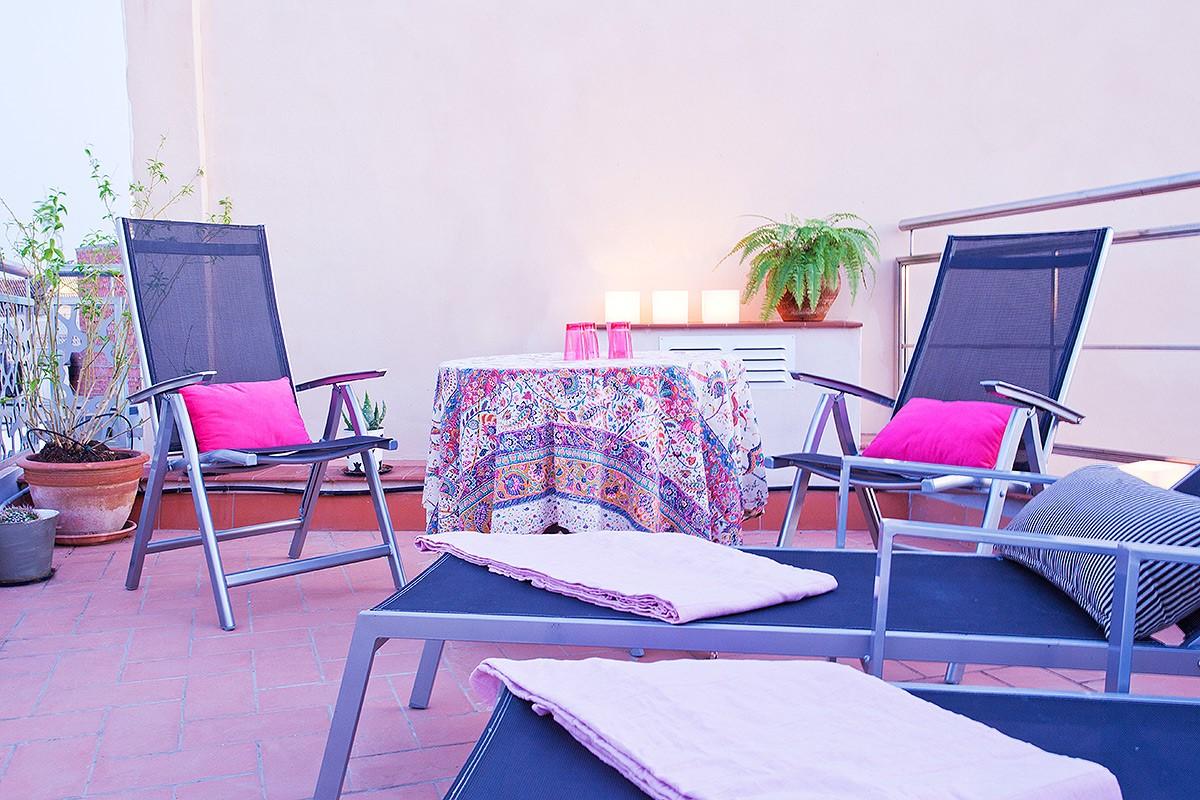 Terrace at Belmonte Apartment, San Bernardo, Seville