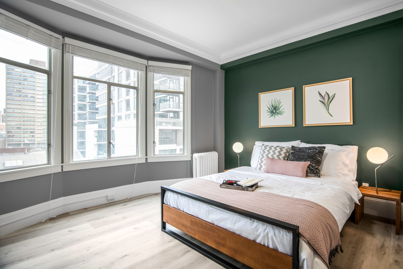 Bedroom at 1801 California Street Apartments, Polk Gulch, San Francisco