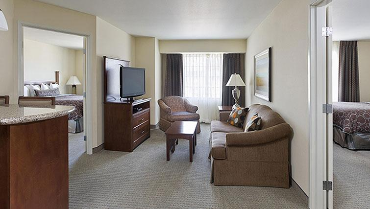 Spacious living area in Staybridge Suites Toronto Markham