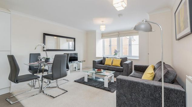 Lounge at Woodbridge Road Apartment, Centre, Guildford