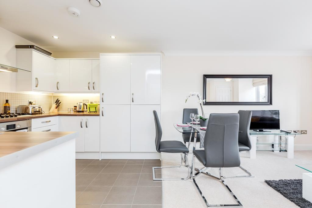 Dining table at Woodbridge Road Apartment, Centre, Guildford