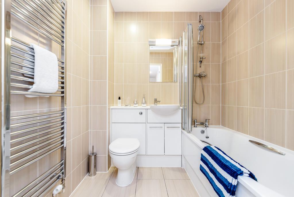 Bathroom at Woodbridge Road Apartment, Centre, Guildford