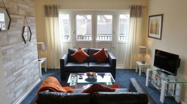 Living room at The Sawmills House, Caldewgate, Carlisle