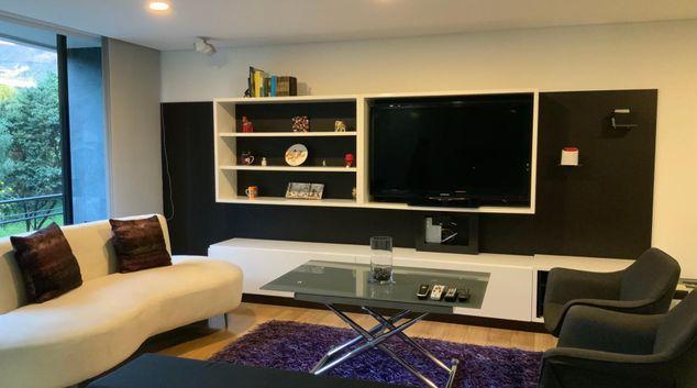 Living room at Sweet Violet Apartment, Usaquen, Bogota