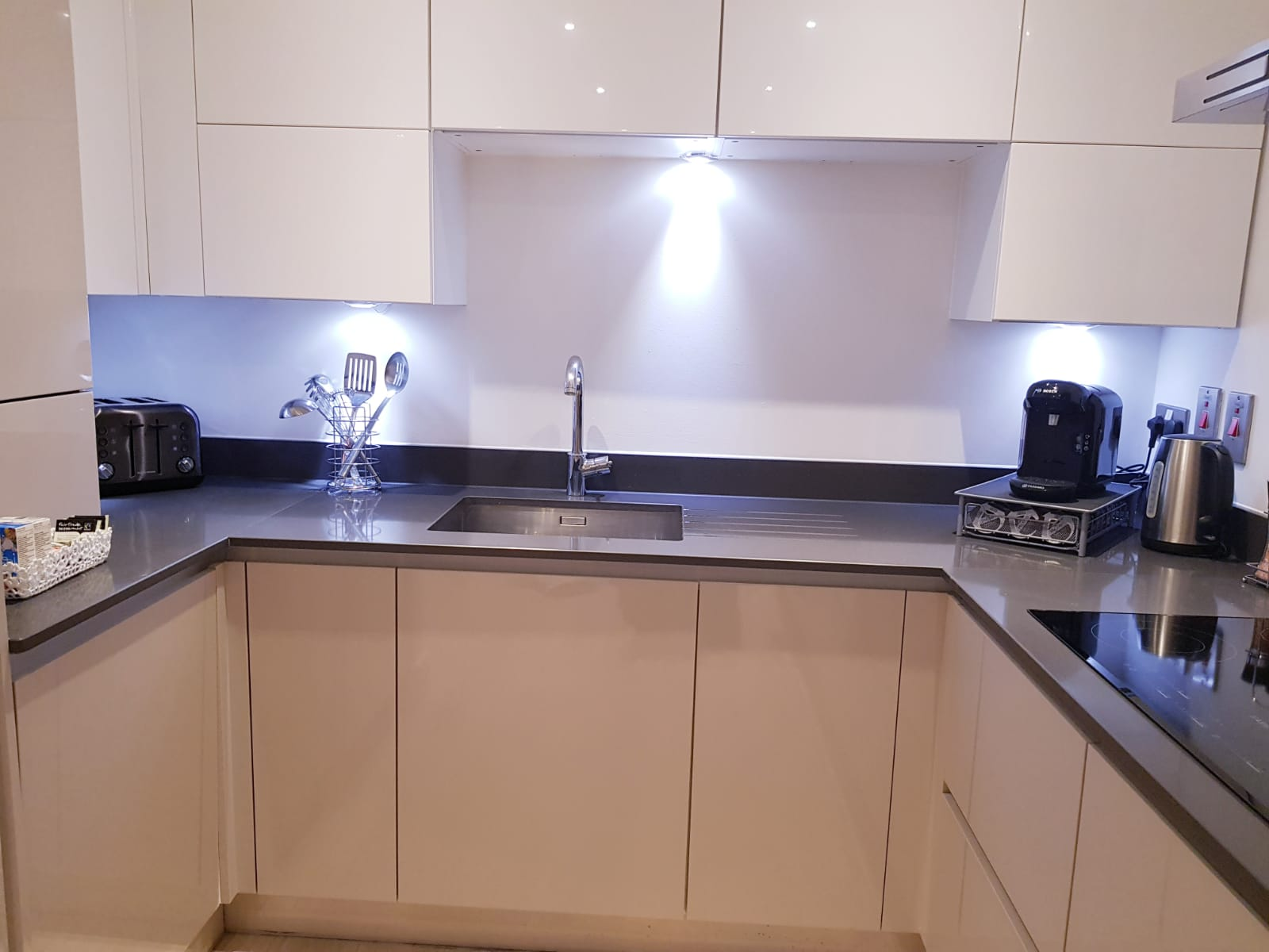 Kitchen at Noble House Apartment, Chiswick, London