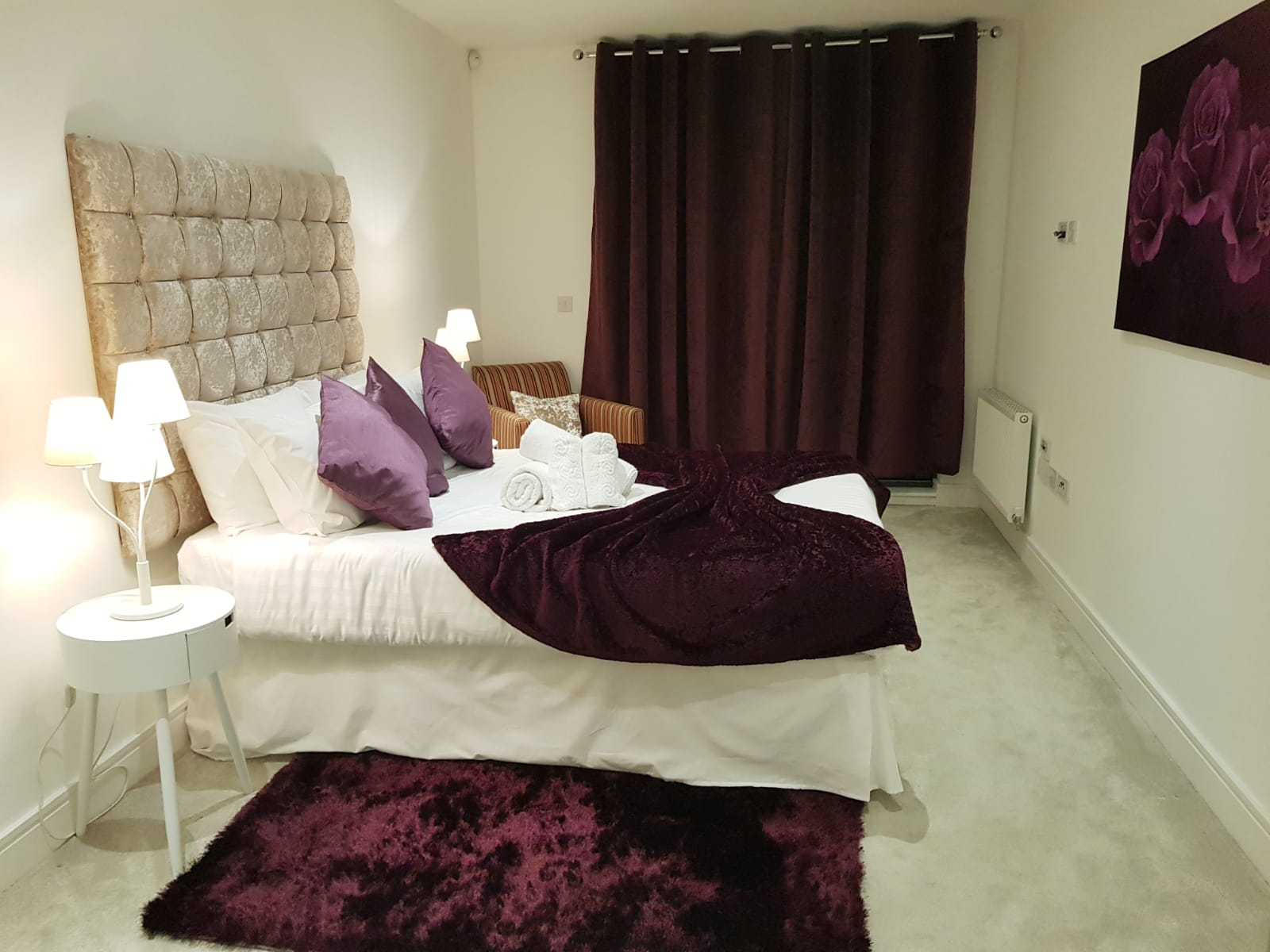 Bedroom at Noble House Apartment, Chiswick, London