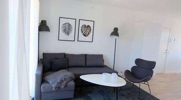 Living area at Tove Maes Apartment, Valby, Copenhagen