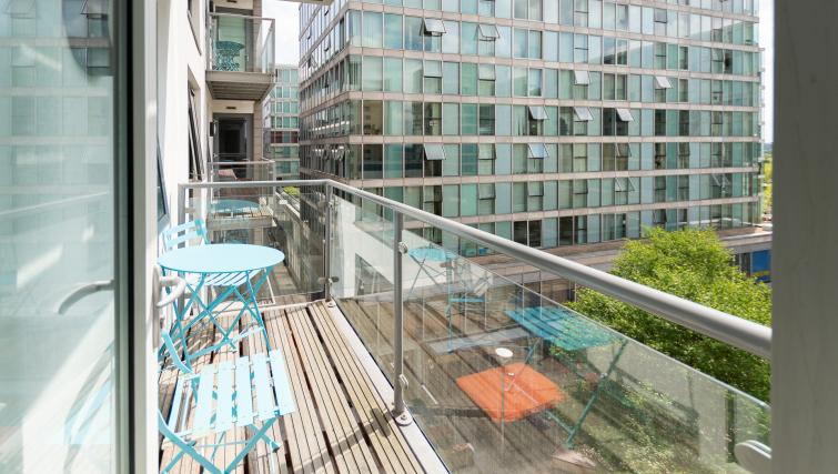 Balcony area at City Stay Apartments Hub