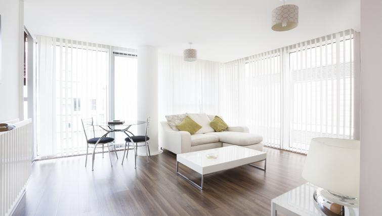 Modern living area at City Stay Apartments Hub