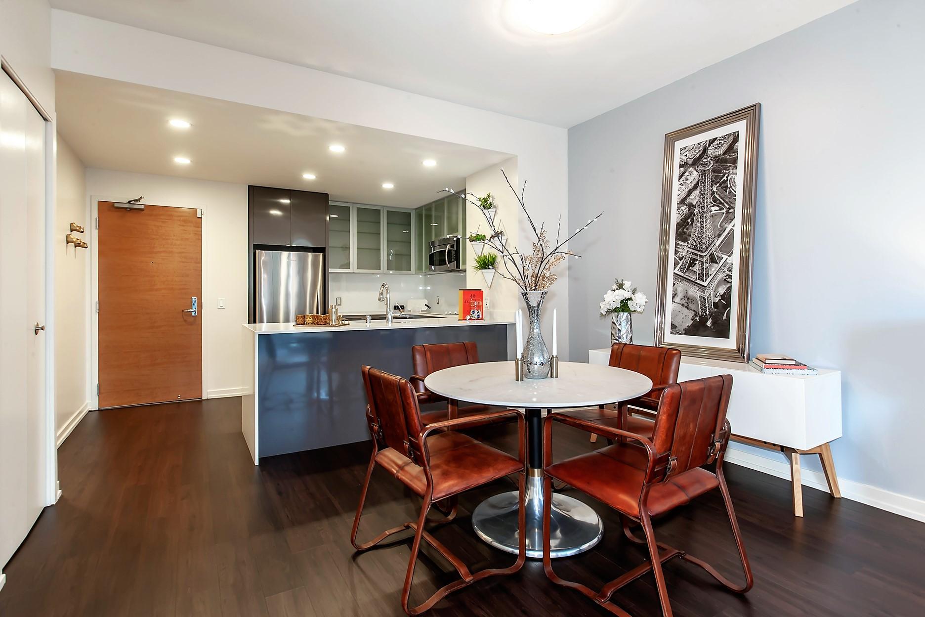 Kitchen diner at Argenta Apartment, Hayes Valley, San Francisco