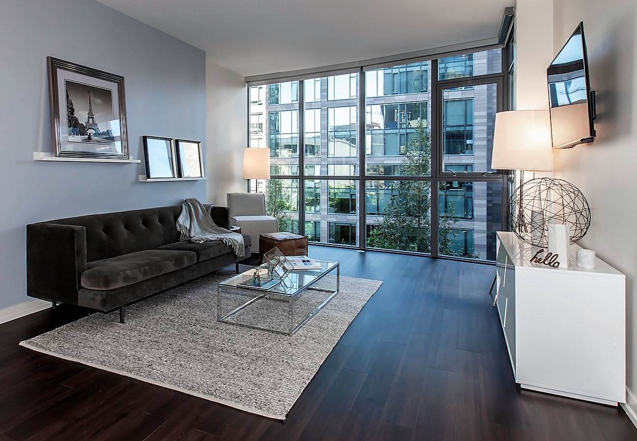 Living area at Argenta Apartment, Hayes Valley, San Francisco
