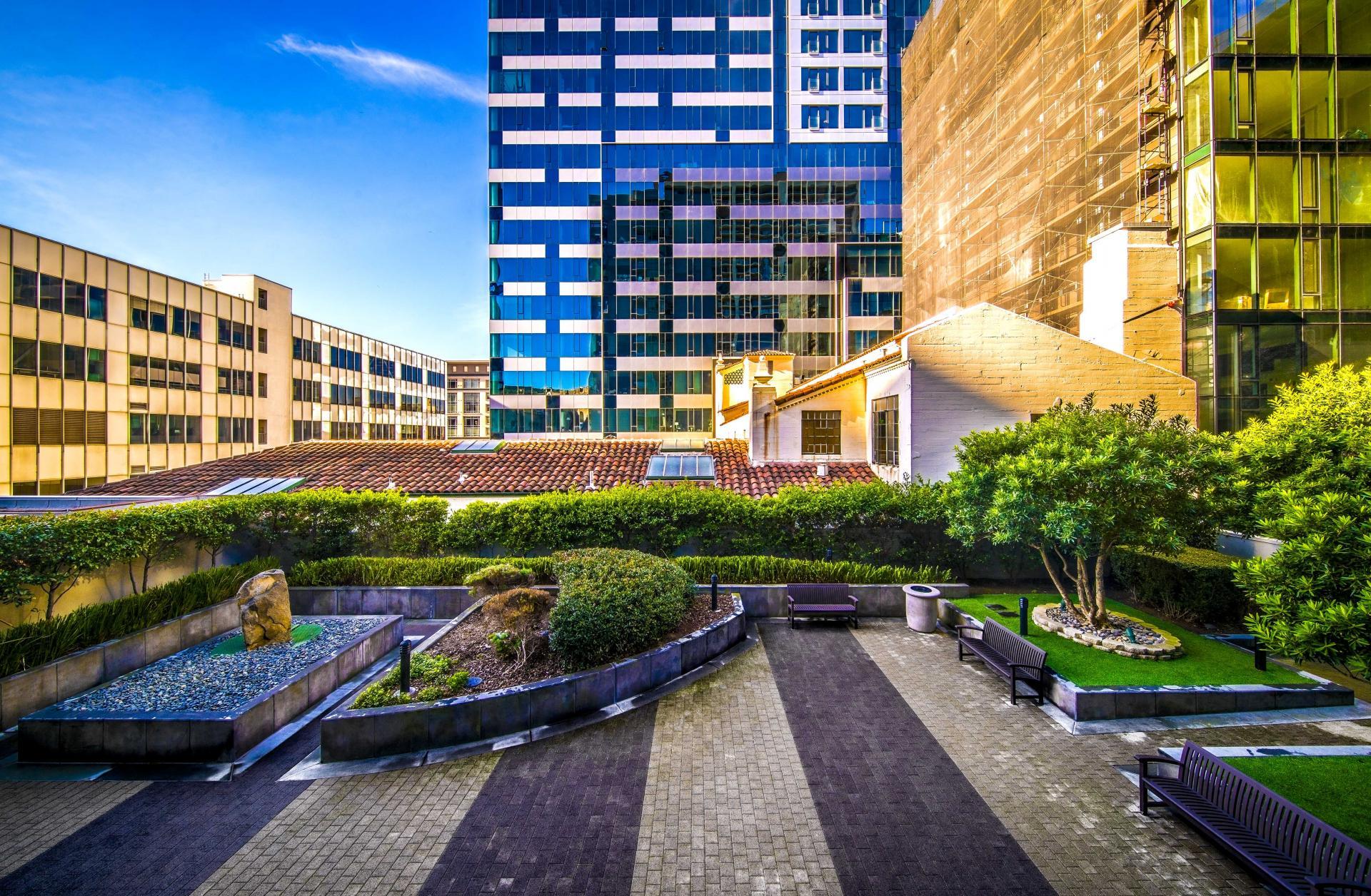 Garden at Argenta Apartment, Hayes Valley, San Francisco