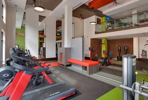 Fitness centre at 641 Amli Ponce Park Apartment, Old Fourth Ward, Atlanta