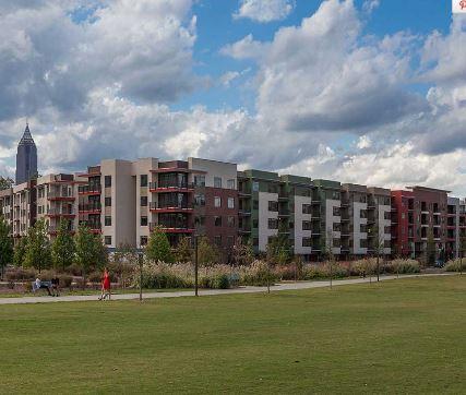 Building at 641 Amli Ponce Park Apartment, Old Fourth Ward, Atlanta