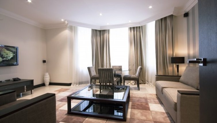 Stunning living area in Brunel Crescent Apartments