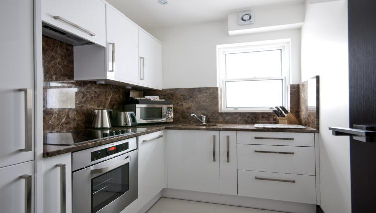 Kitchen at 130 Queens Gate Apartments