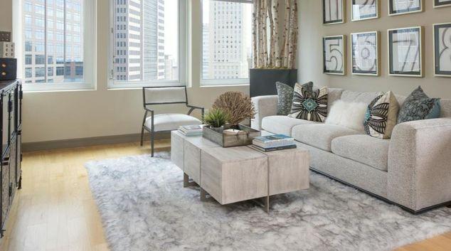 Living Room at Gables Republic Tower Apartments