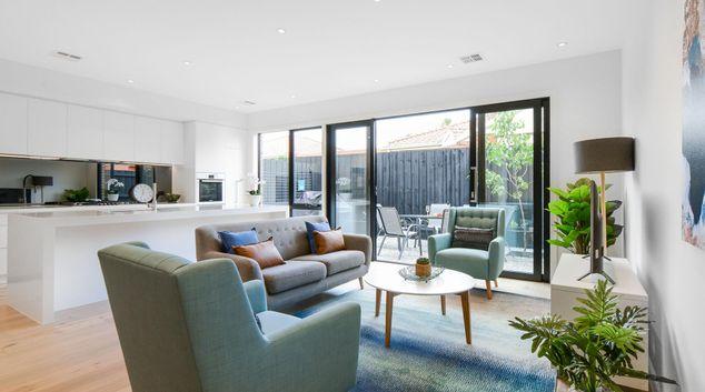 Living area at Rosella Street Murrumbeena Place, Murrumbeena, Melbourne