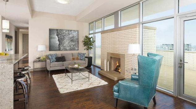 Living area at Gables Park, Centre, Dallas