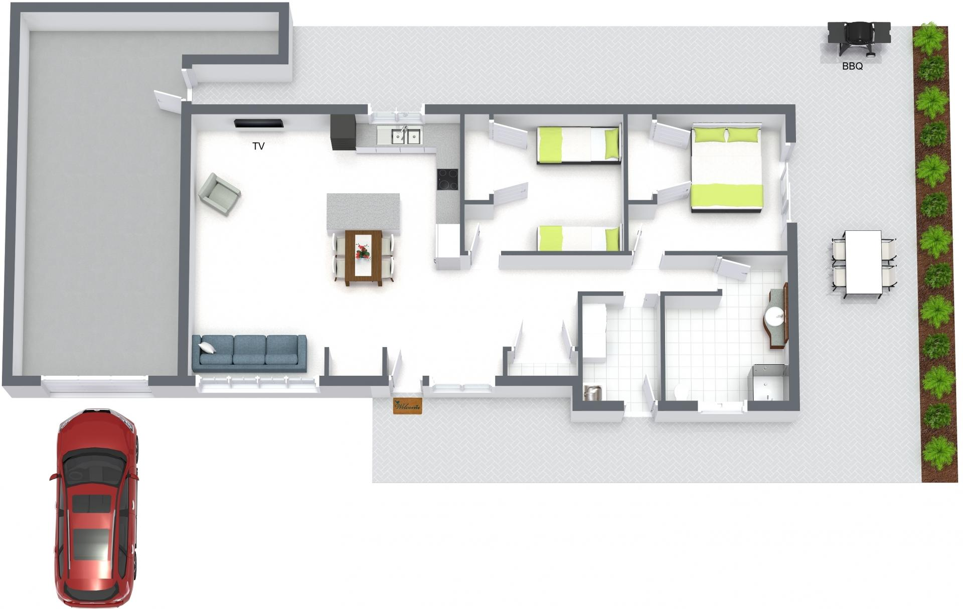 Floor plan of Sandy Breeze Apartment, Sandringham, Melbourne