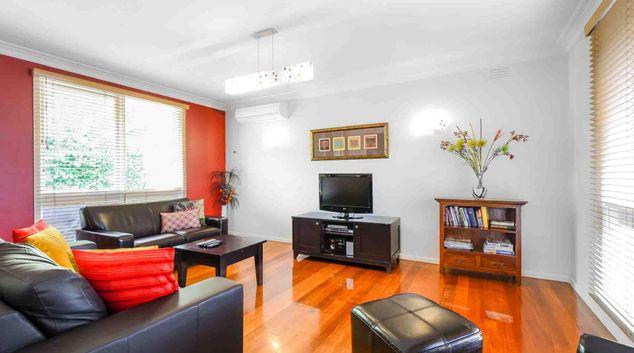 Living area at Bay Road Apartment, Sandringham, Melbourne
