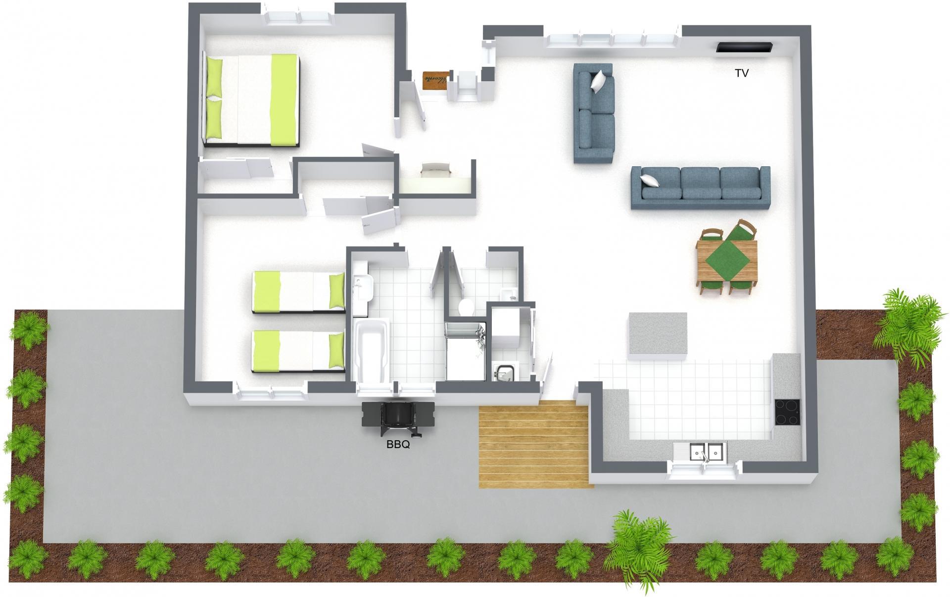 Floor plan of Boutique Stays - Sandy Side 2, Sandringham, Melbourne