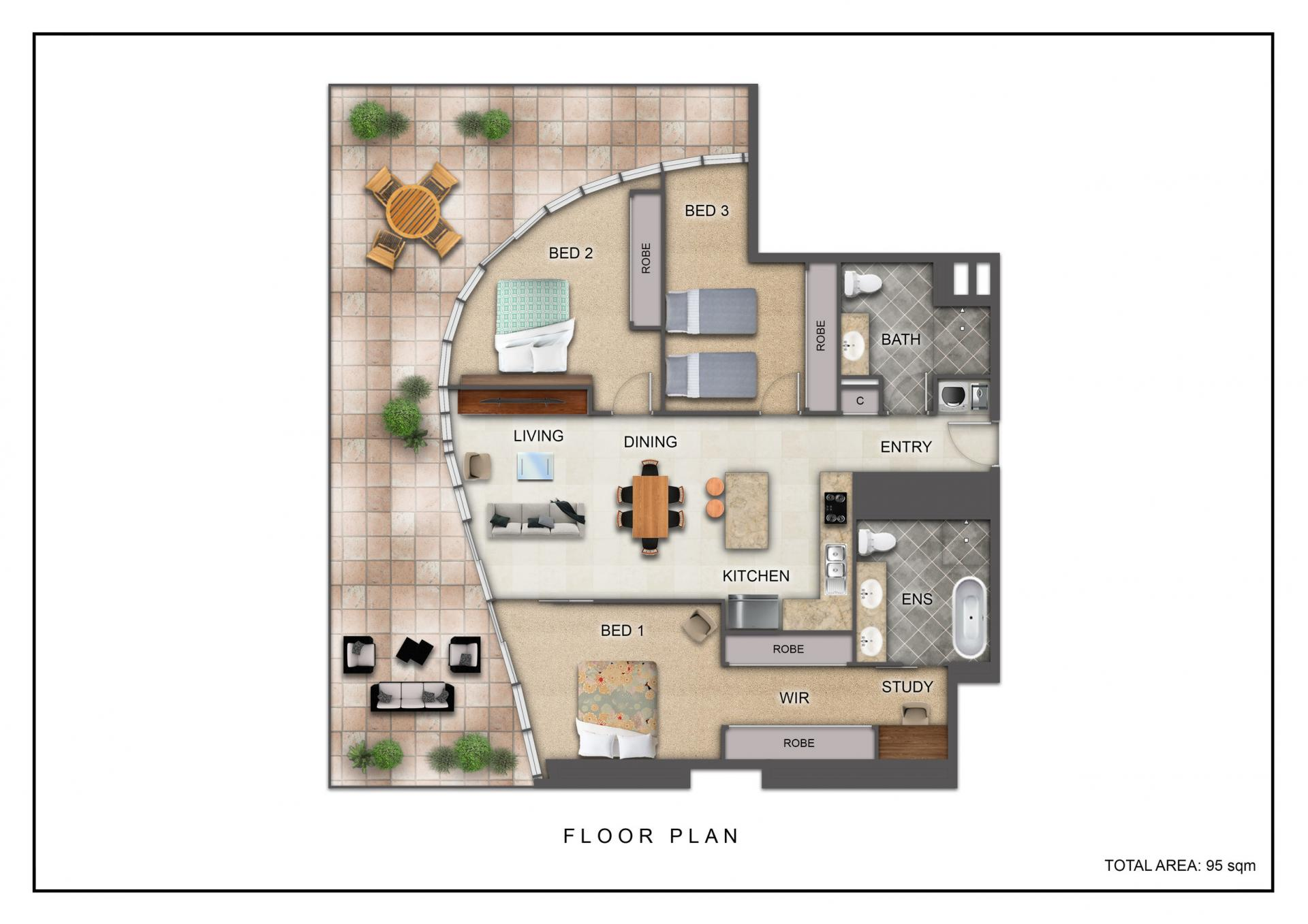 Floor plan of The Capitol, South Yarra, Melbourne