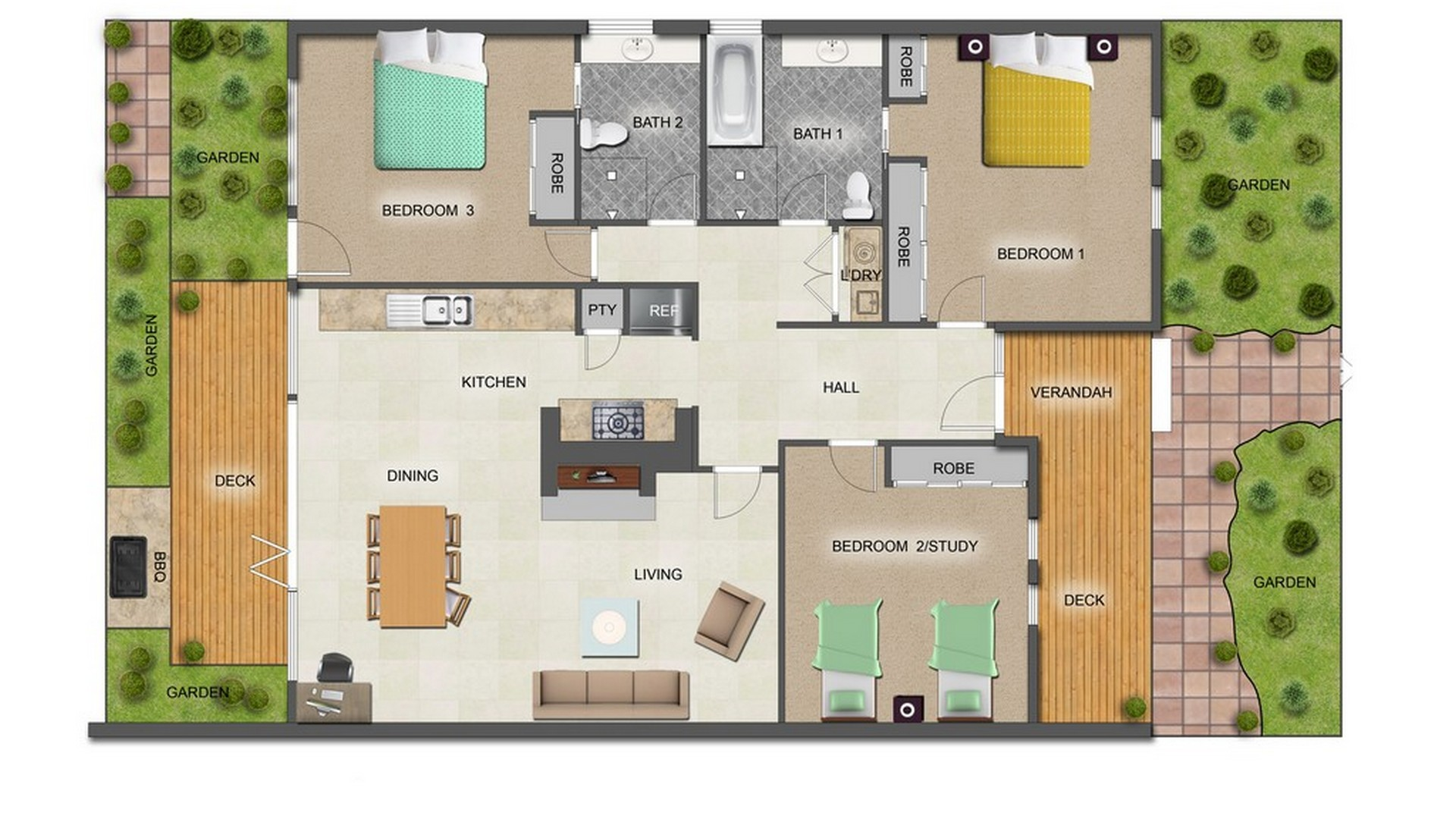 Floor plan of The Trenerry, Abbotsford, Melbourne