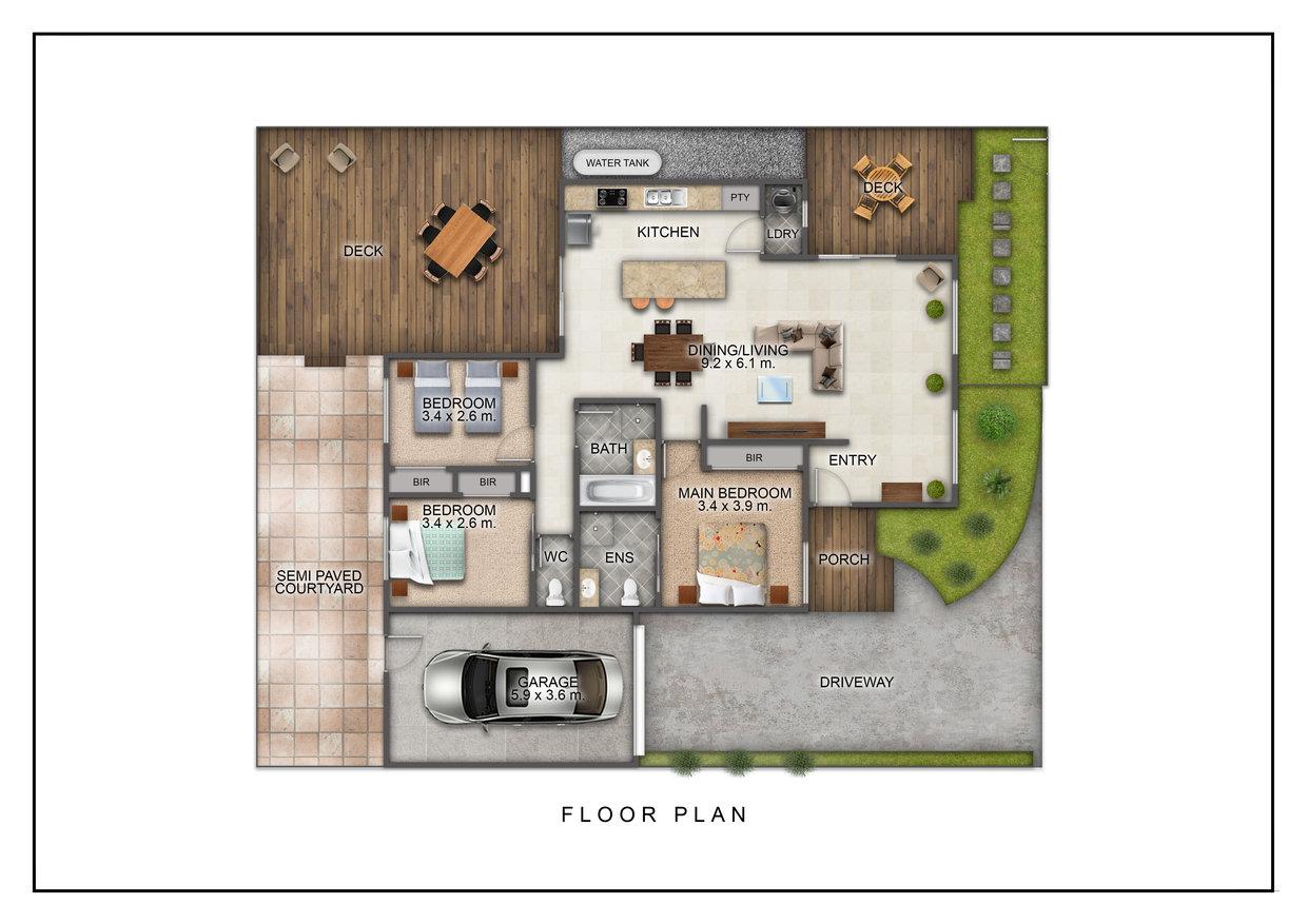 Floor plan of The Richardson, Mentone, Melbourne