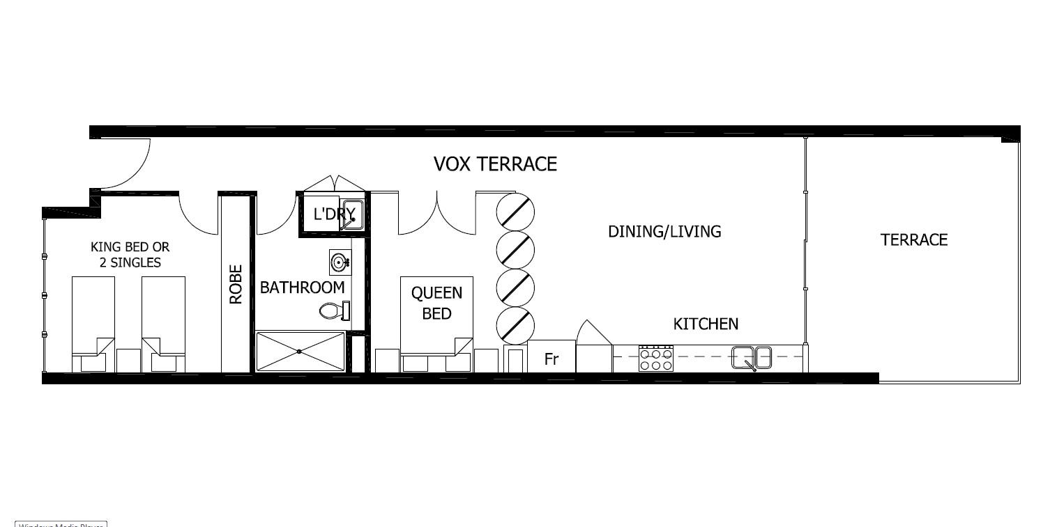 Floor plan of Vox Terrace, Prahran, Melbourne