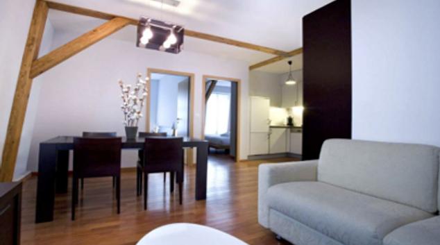 Lounge at Rue Jean-Violette Apartment, Saint-Leger, Geneva