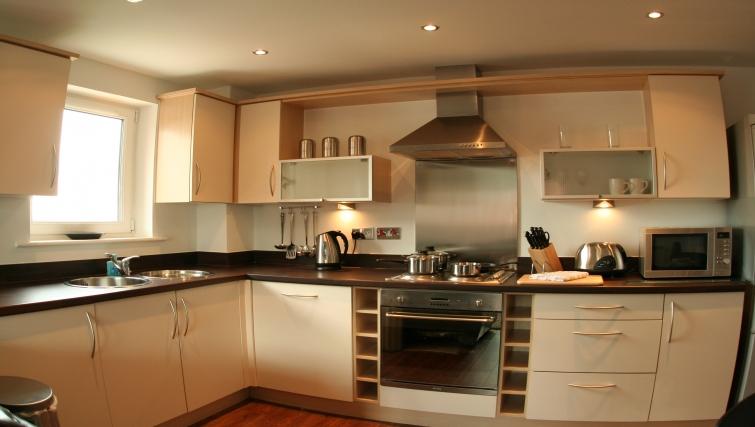 Modern kitchen at Ebutler Grand Central Apartments