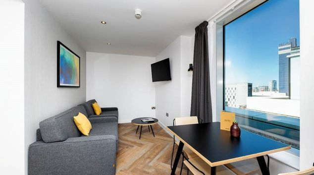 Living room at Staycity Manchester Northern Quarter, Ancoats, Manchester
