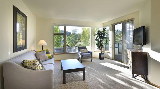 Living Room at Island Square Apartment