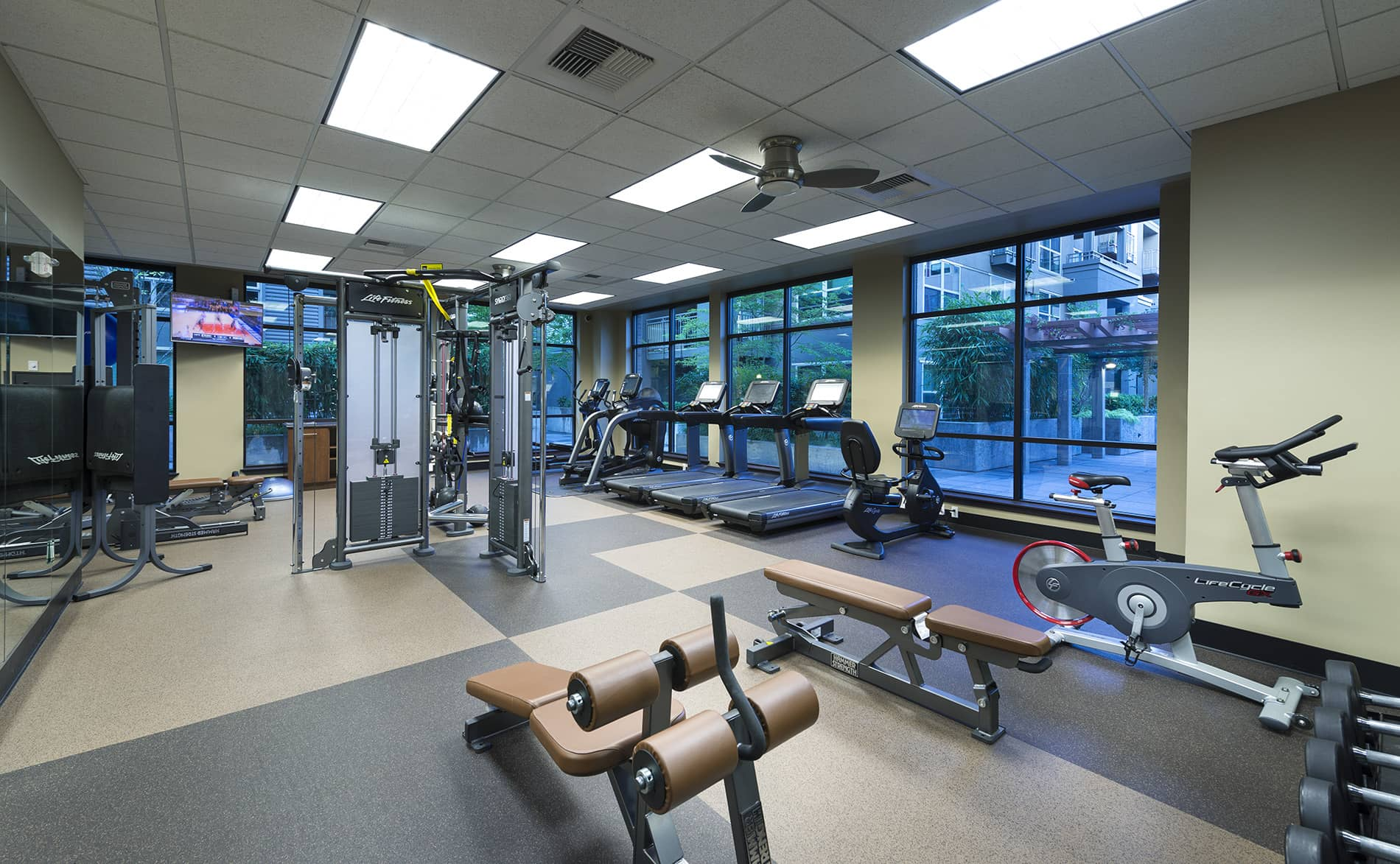 Fitness Centre at Island Square Apartment