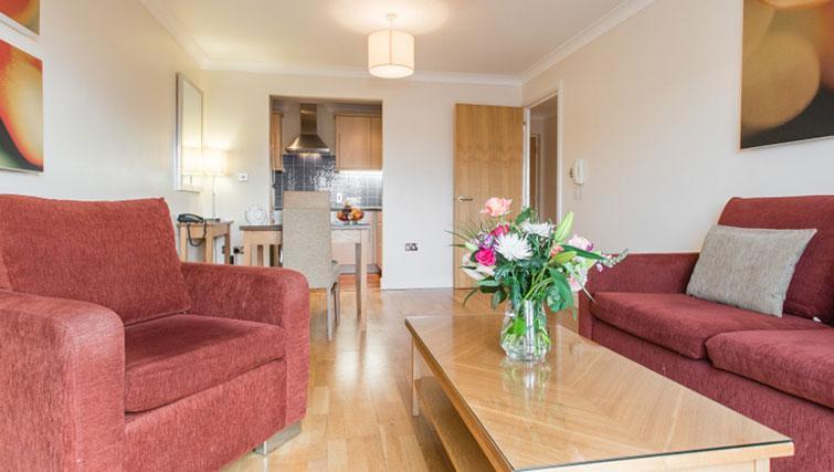 Lounge at Premier Suites Bristol Redcliffe