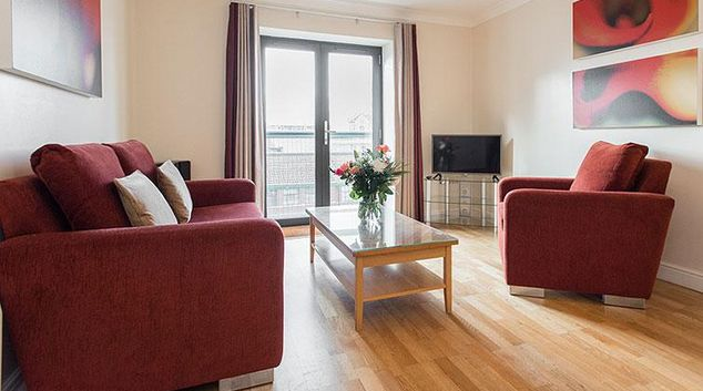 Open plan living area in Premier Suites Bristol Redcliffe Apartments