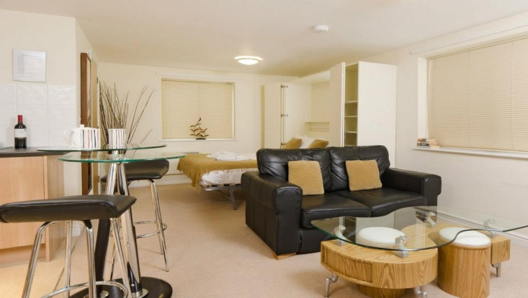Impeccable living area in Cotham Lawn Apartments