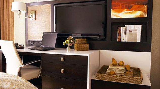Cosy living area in Staybridge Suites New York Times Square