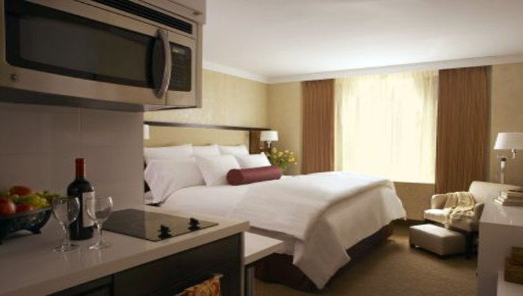Spacious bedroom in Staybridge Suites New York Times Square