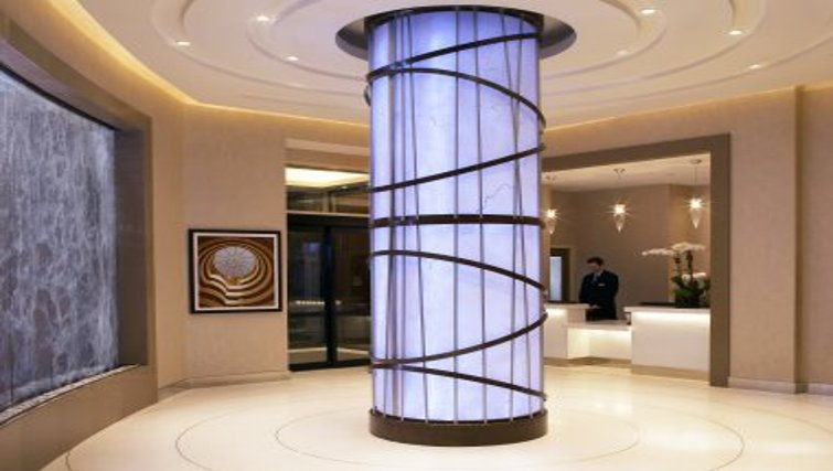 Sophisticated lobby area in Staybridge Suites New York Times Square