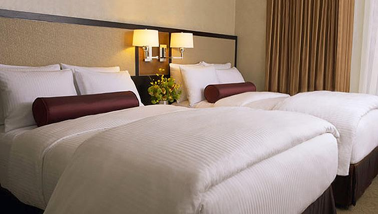 Charming bedroom in Staybridge Suites New York Times Square