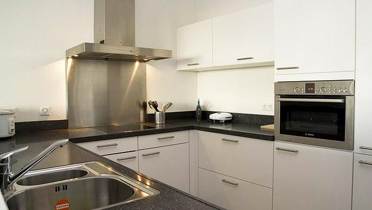 Equipped kitchen at World Fashion Apartments - Amsterdam