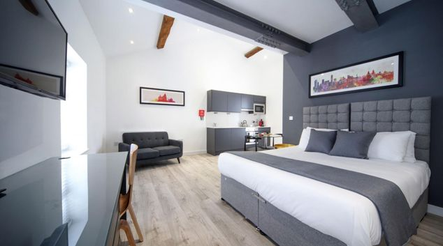 Living area at Citystop Apartments, Ropewalks, Liverpool