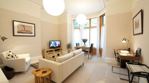 Cosy living area at Oakfield Court Apartment Hotel, Sale, Manchester