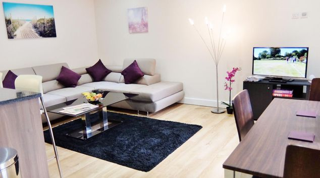 Living area at Colindale Serviced Apartments, Colindale, London