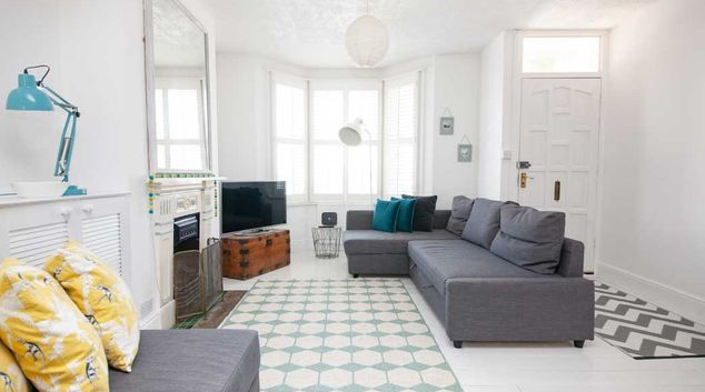 Living area at Beach Cottage, Centre, Worthing