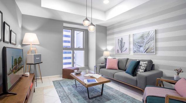 Sofa at Princess Apartment VII, Dubai Marina, Dubai