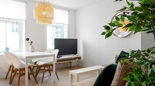Living area at Lyder Sagens Apartments, Nygärd, Bergen